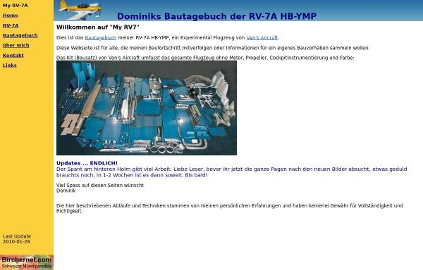 Vorschau von www.myrv7.ch, RV-7A Bautagebuch