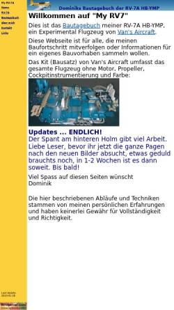 Vorschau der mobilen Webseite www.myrv7.ch, RV-7A Bautagebuch