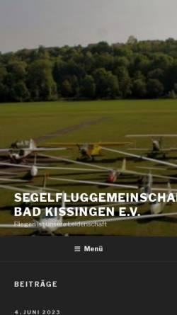 Vorschau der mobilen Webseite sfg-kg.de, SFG Bad Kissingen e.V.