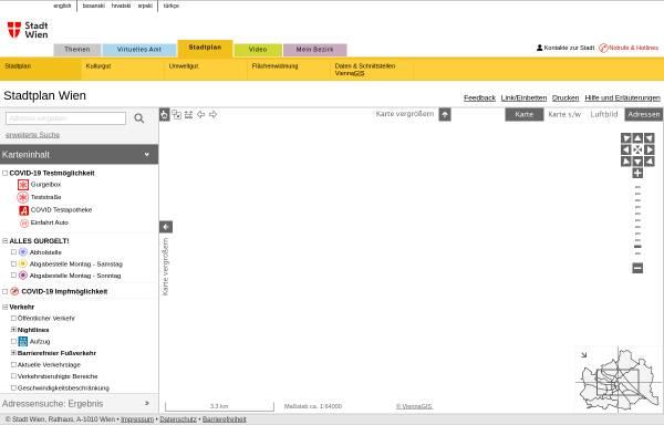 Vorschau von www.wien.gv.at, Wien Stadtplan