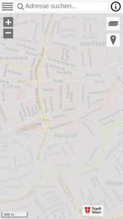 Vorschau der mobilen Webseite www.wien.gv.at, Wien Stadtplan