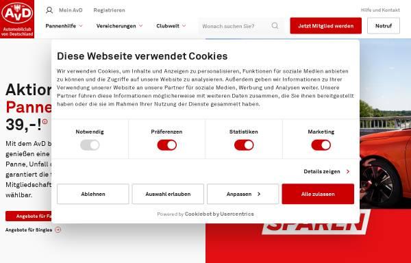 Vorschau von www.avd.de, AvD - Automobilclub von Deutschland