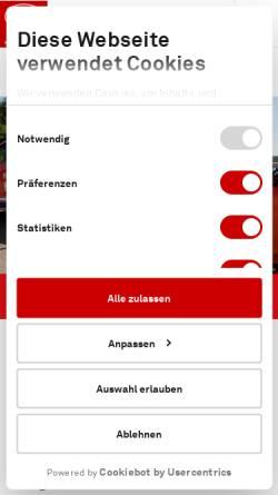 Vorschau der mobilen Webseite www.avd.de, AvD - Automobilclub von Deutschland