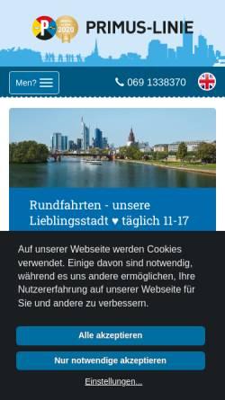 Vorschau der mobilen Webseite www.primus-linie.de, Primus-Linie