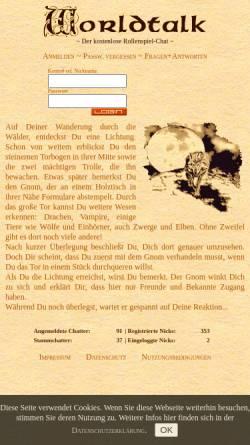 Vorschau der mobilen Webseite worldtalk.de, WorldTalk