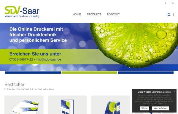 Vorschau von www.sdv-saar.de, SDV Saarbrücker Druckerei und Verlag GmbH