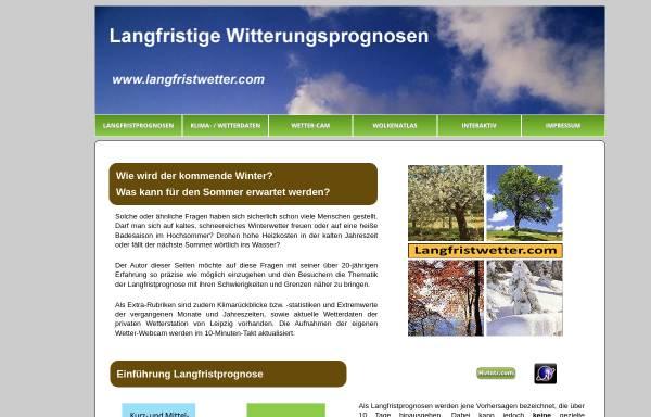 Vorschau von www.langfristwetter.com, Langzeitprognosen und Klimastatistik