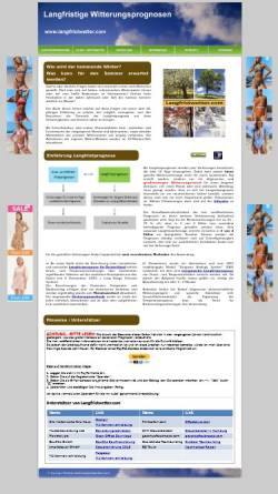 Vorschau der mobilen Webseite www.langfristwetter.com, Langzeitprognosen und Klimastatistik