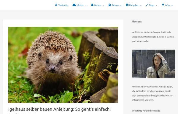 Vorschau von www.wettersaeulen-in-europa.de, Wettersäulen in Europa