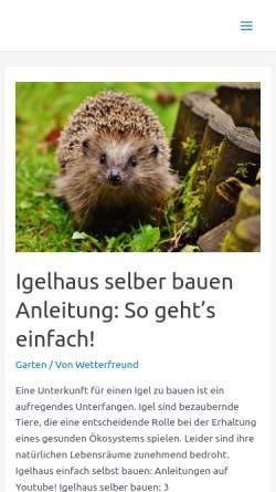 Vorschau der mobilen Webseite www.wettersaeulen-in-europa.de, Wettersäulen in Europa