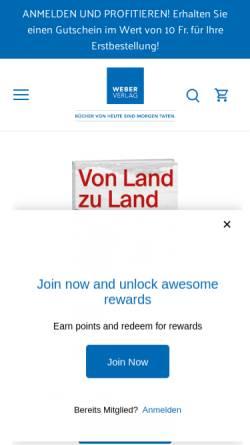 Vorschau der mobilen Webseite www.werdverlag.ch, Werd Verlag