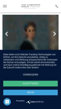 Vorschau der mobilen Webseite www.olaf-gulbransson-museum.de, Tegernsee, Olaf Gulbransson Museum