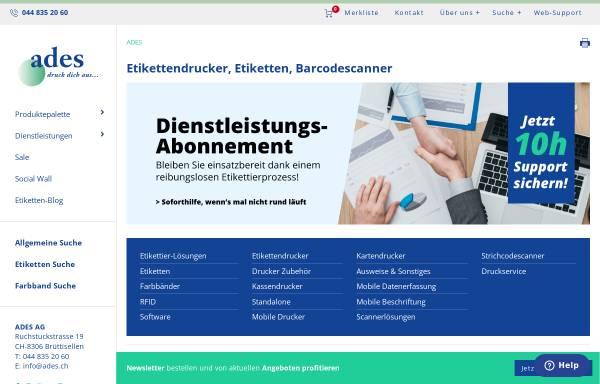 Vorschau von www.ades.ch, Ades