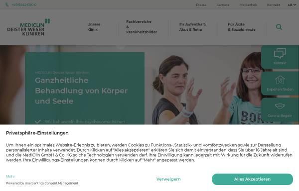 Vorschau von www.deister-weser-kliniken.de, Deister Weser Kliniken Bad Münder