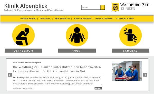 Vorschau von www.klinik-alpenblick.de, Klinik Alpenblick