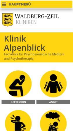 Vorschau der mobilen Webseite www.klinik-alpenblick.de, Klinik Alpenblick