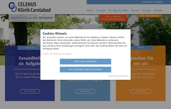 Vorschau von www.carolabad.de, Klinik Carolabad