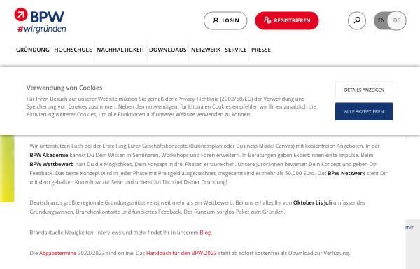 Vorschau von www.b-p-w.de, Businessplan-Wettbewerb Berlin-Brandenburg