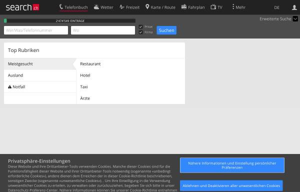 Vorschau von tel.search.ch, Tel.search.ch