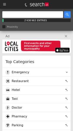 Vorschau der mobilen Webseite tel.search.ch, Tel.search.ch