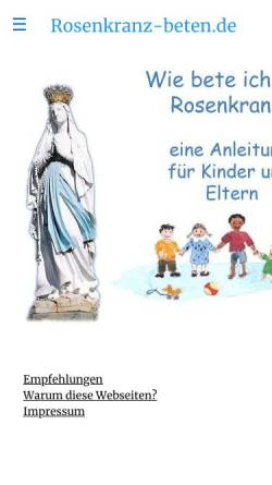 Rosenkranz Meditation Texte