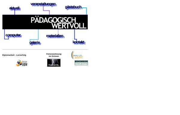 Vorschau von www.paedagogisch-wertvoll.de, Pädagogisch Wertvoll