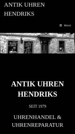 Vorschau der mobilen Webseite www.uhrenreparaturen.de, Hendriks Antiquitäten