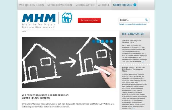 Vorschau von www.mhmmuenchen.de, Mieter helfen Mietern München
