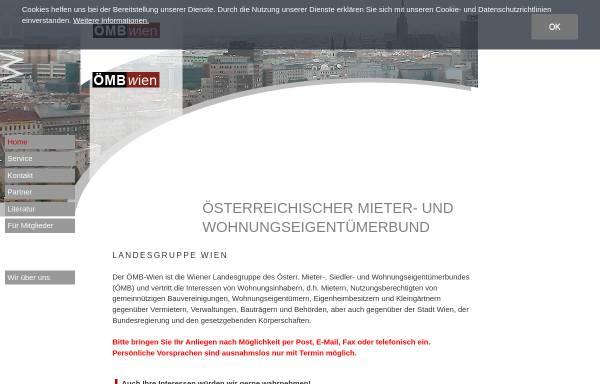 Vorschau von www.mieterbund.at, Österreichischer Mieter- und Wohnungseigentümerbund Landesgruppe Wien