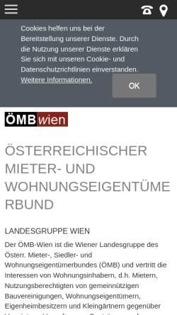 Vorschau der mobilen Webseite www.mieterbund.at, Österreichischer Mieter- und Wohnungseigentümerbund Landesgruppe Wien