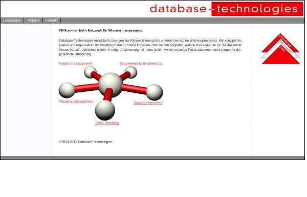 Vorschau von www.database-technologies.de, Dipl.-Informationswirt (FH) Andreas Leyerer