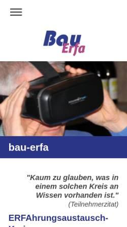 Vorschau der mobilen Webseite bau-erfa.de, Erfahrungsaustausch-Kreise (Dr.-Ing. E.R. Weng)