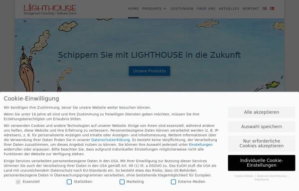 Vorschau von lighthouse-it.de, Lighthouse Management Consulting + Software GmbH