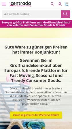 Vorschau der mobilen Webseite www.zentrada.de, Zentrada.de by Schimmel Media Verlag GmbH & Co. KG
