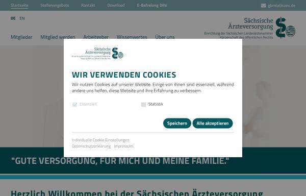 Vorschau von www.saev.de, Sächsische Ärzteversorgung