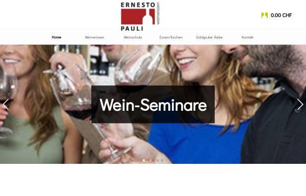 Vorschau von www.ernestopauli.ch, Ernesto Pauli