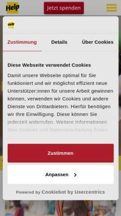 Vorschau der mobilen Webseite www.help-ev.de, HELP