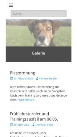 Vorschau der mobilen Webseite www.hsv-markkleeberg.de, HSV Leipzig Süd / Markkleeberg e. V.