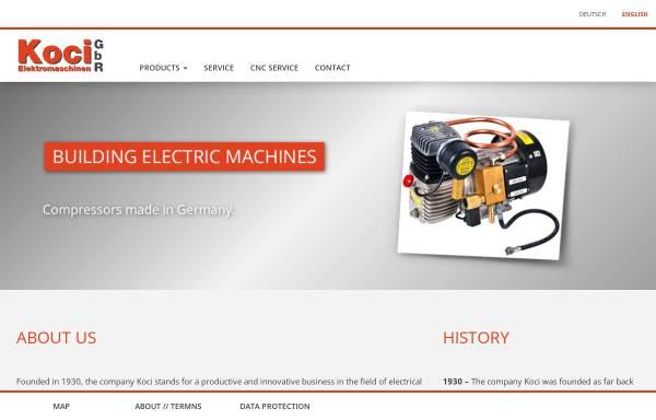 Vorschau von www.elektromaschinen-koci.de, Elektromaschinen Koci