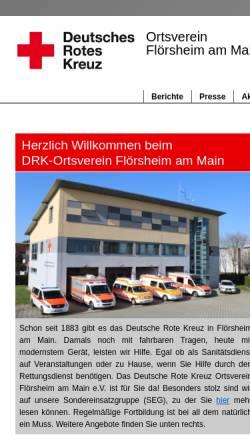 Vorschau der mobilen Webseite www.drk-floersheim.de, DRK OV Flörsheim am Main e.V.