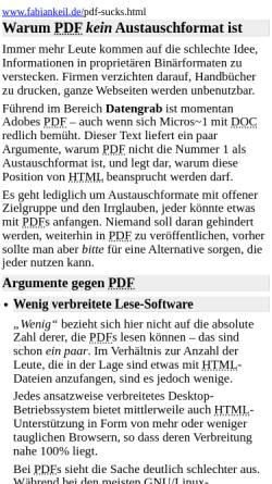 Vorschau der mobilen Webseite www.fabiankeil.de, Warum PDF kein Austauschformat ist