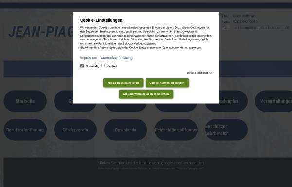 Vorschau von www.piaget-schule-berlin.de, Jean-Piaget-Oberschule