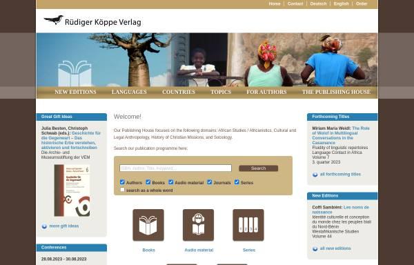 Vorschau von www.koeppe.de, Rüdiger Köppe Verlag