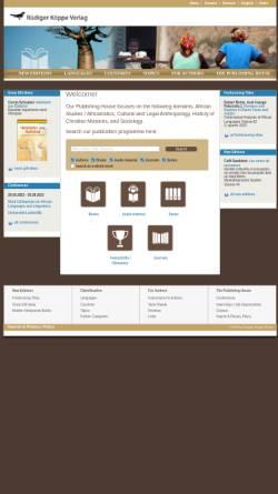 Vorschau der mobilen Webseite www.koeppe.de, Rüdiger Köppe Verlag
