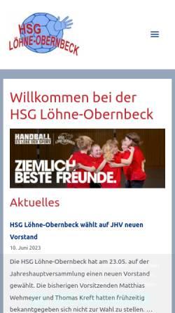 Vorschau der mobilen Webseite www.hsglo.de, HSG Löhne-Obernbeck - 1. Herrenmannschaft