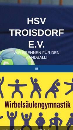 Vorschau der mobilen Webseite www.hsv-troisdorf.de, HSV Troisdorf