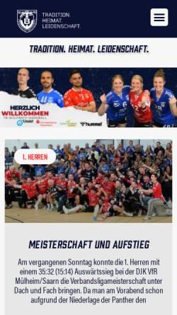 Vorschau der mobilen Webseite www.tbw-handball.de, Turnerbund Wülfrath 1891 e.V. Handball
