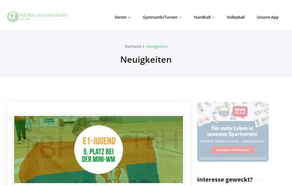 Vorschau von www.borussiahoechsten.de, TuS Borussia Höchsten 1869 e.V.