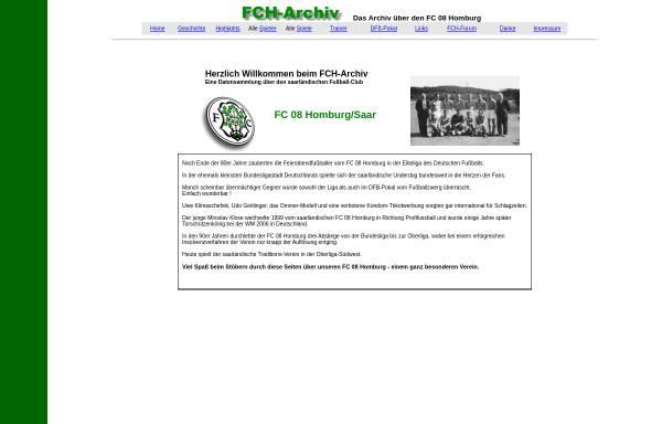 Vorschau von www.volxbank.de, FCH Archiv, Fan-Page des FC Homburg