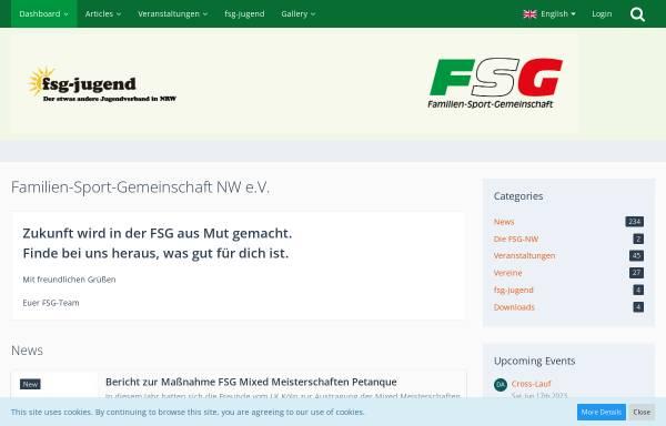Vorschau von fsg-nw.de, Familien-Sport-Gemeinschaft Nordrhein-Westfalen e.V. (FSG NW)